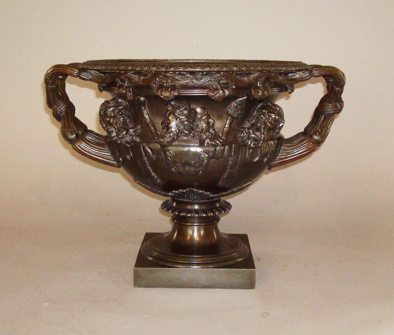C19th Grand Tour Bronze Warwick Vase