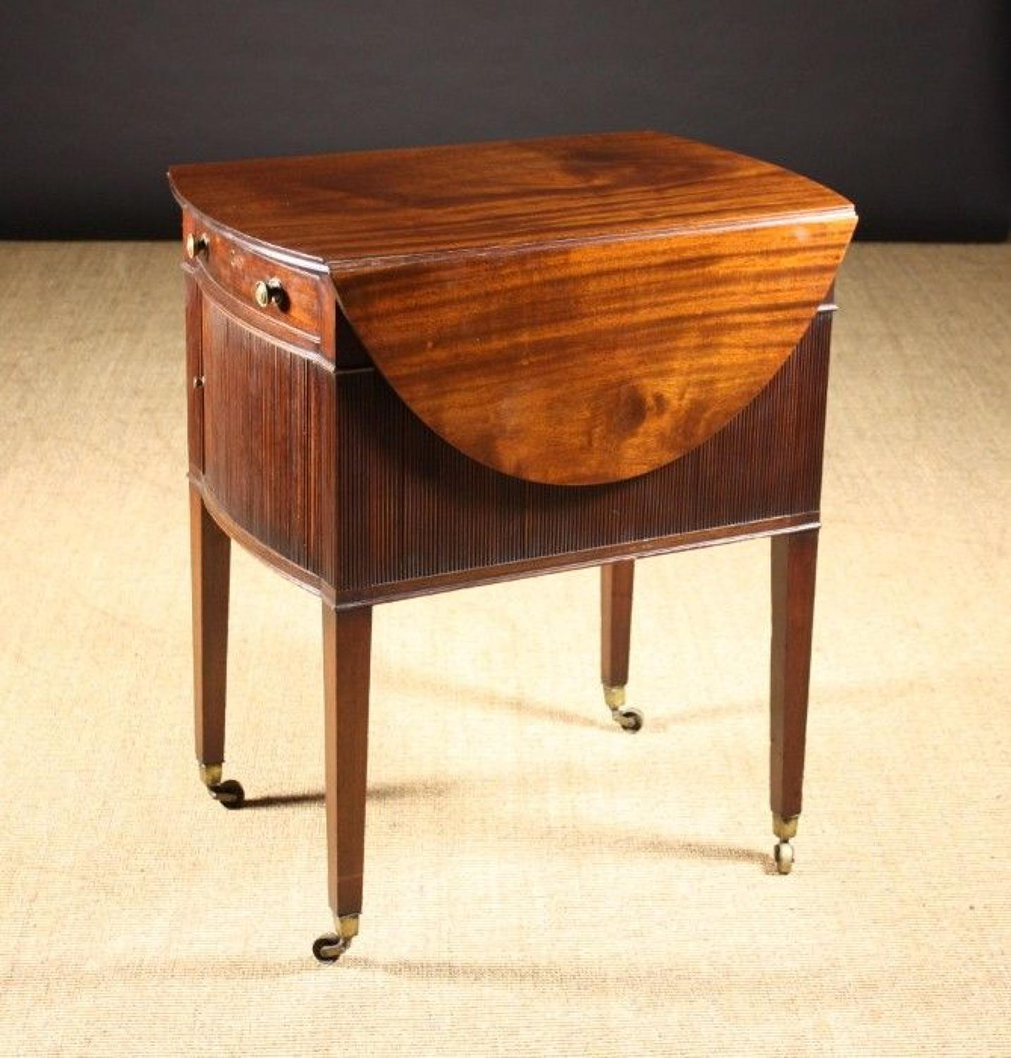 Geo III mahogany oval pembroke supper table