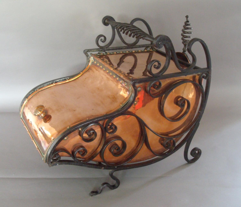 C19th Arts and Crafts copper & iron perdonium