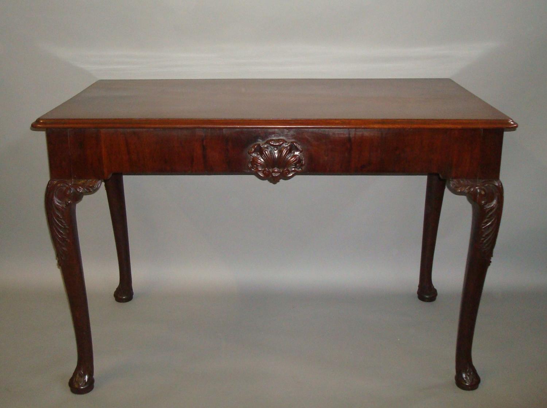 Georgian Irish mahogany side table