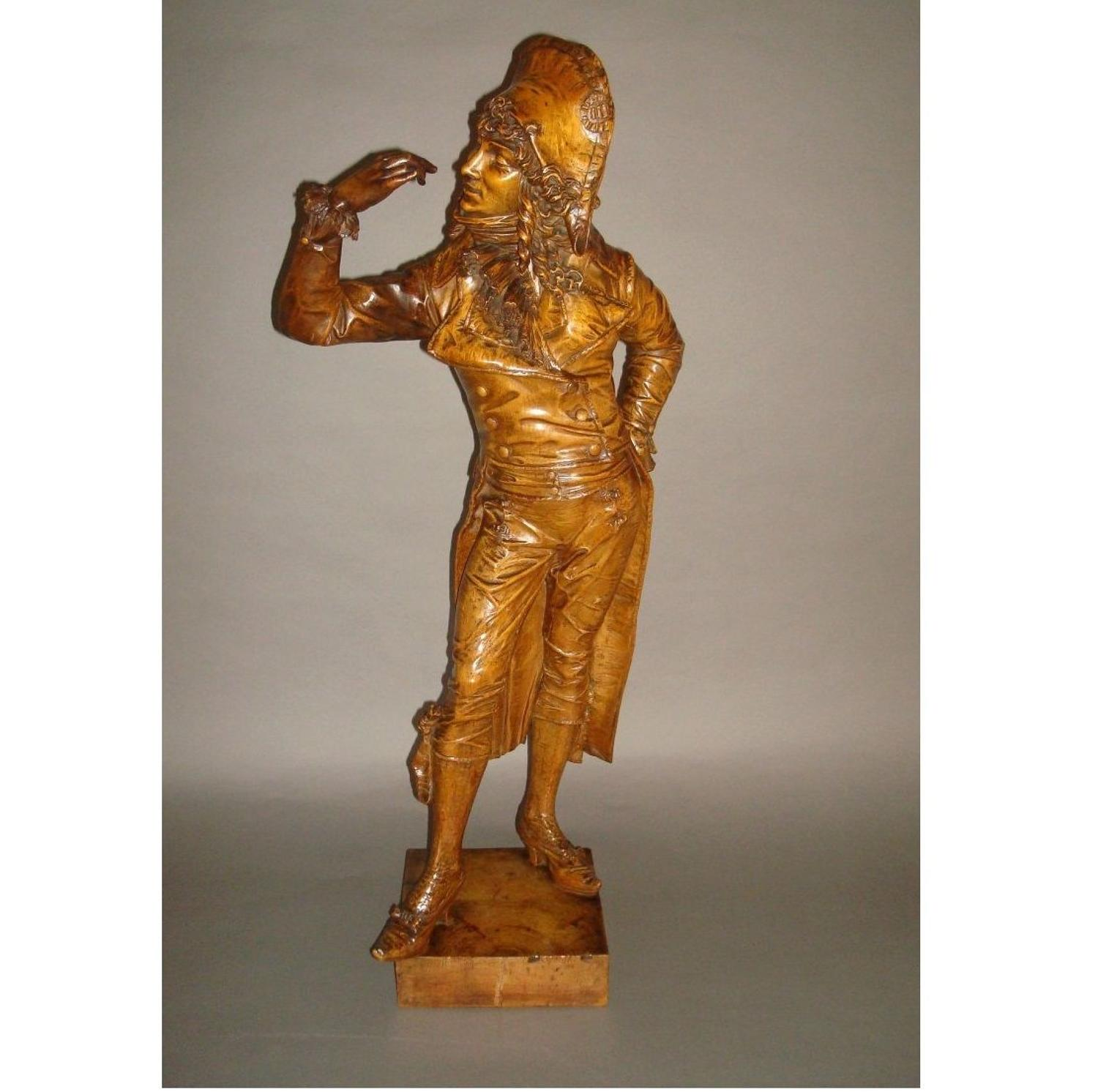 19th century Italian carved figure