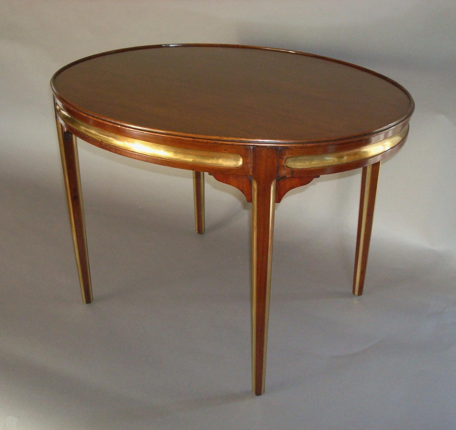20th century oval low occasional table