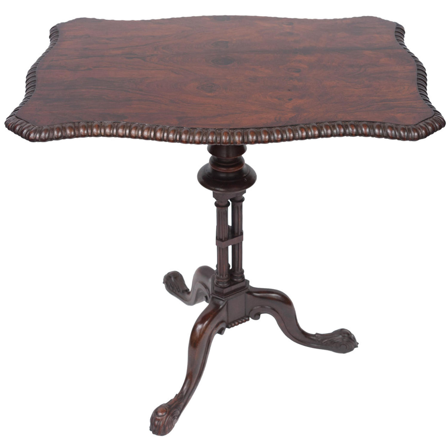Regency rosewood Gillows rectangular tripod table