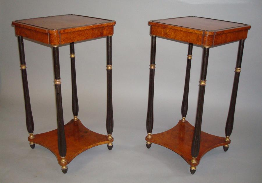 Regency amboyna occasional tables