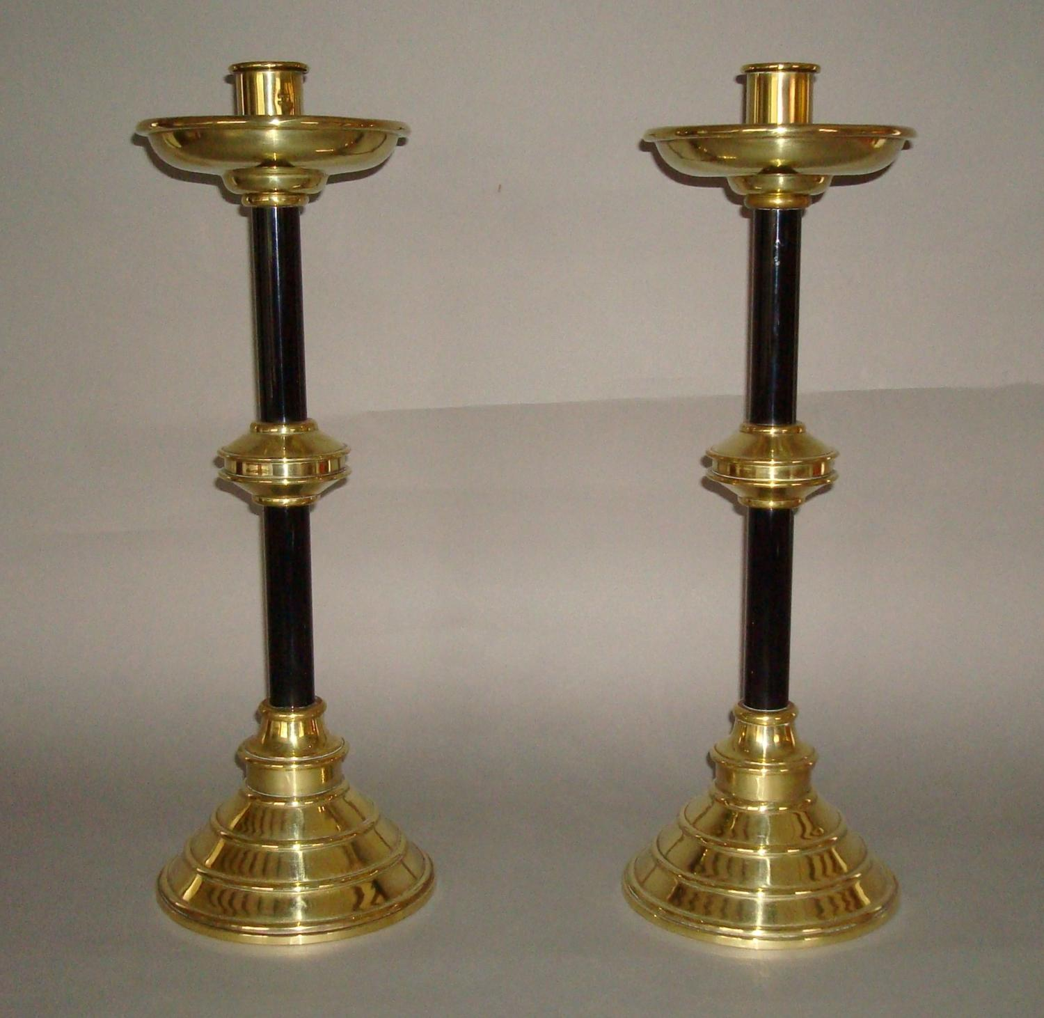 C19th pair of candlesticks