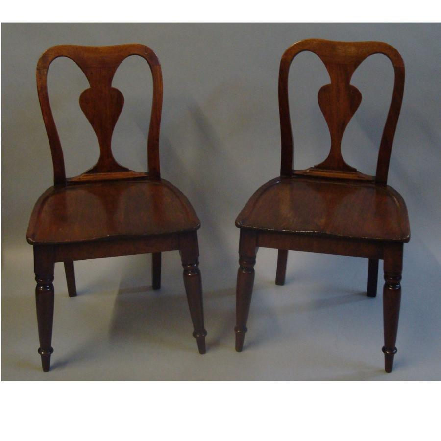 George III mahogany child's chairs