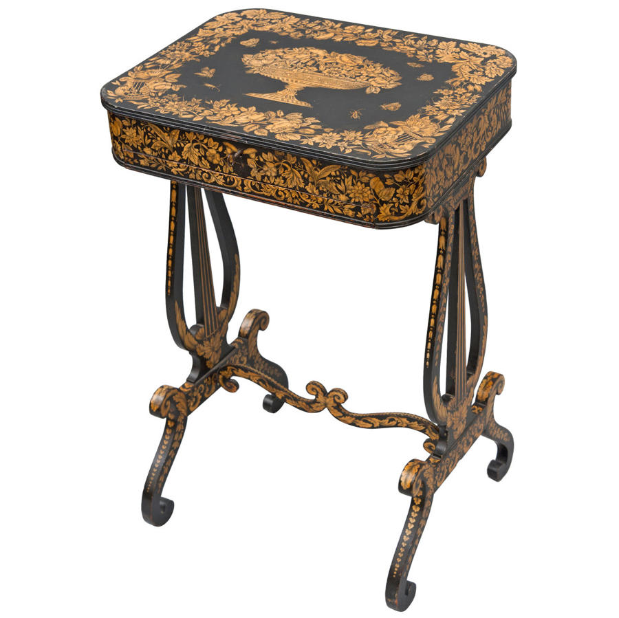 Regency pen work sewing table