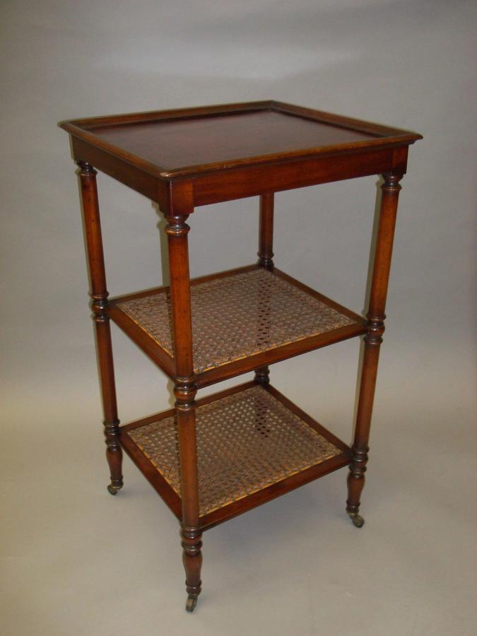 Regency mahogany three tier Ètagere