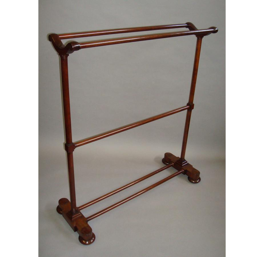 Regency mahogany towel rail