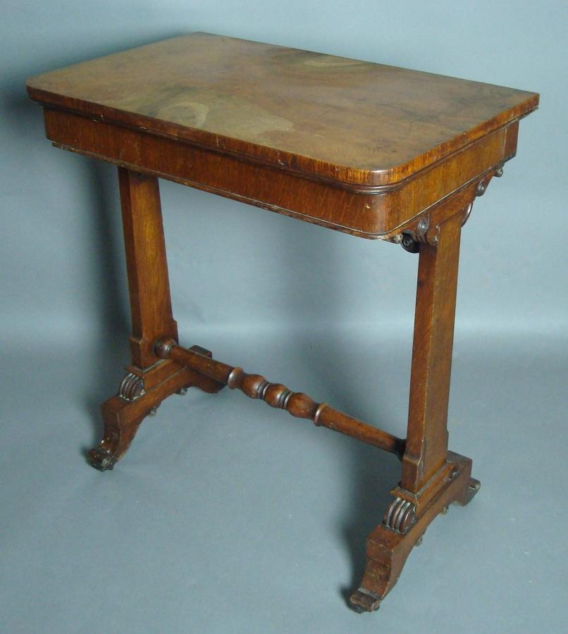Regency Bullock brown oak foldover card table