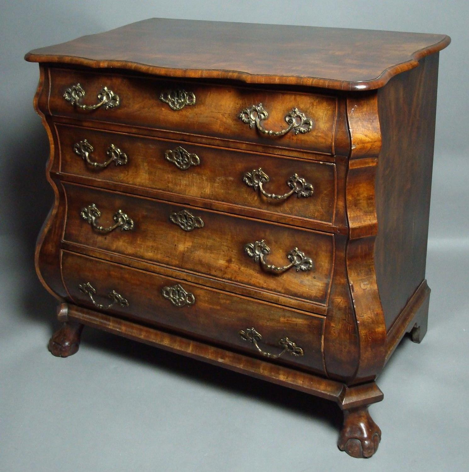 18th century Dutch bombe commode