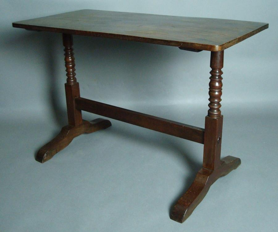 19th century mahogany end support table