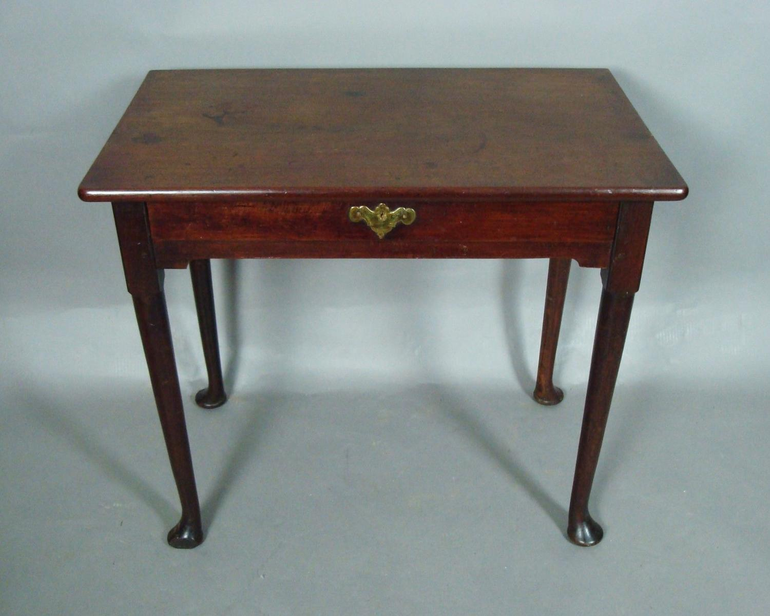George II mahogany single drawer side table