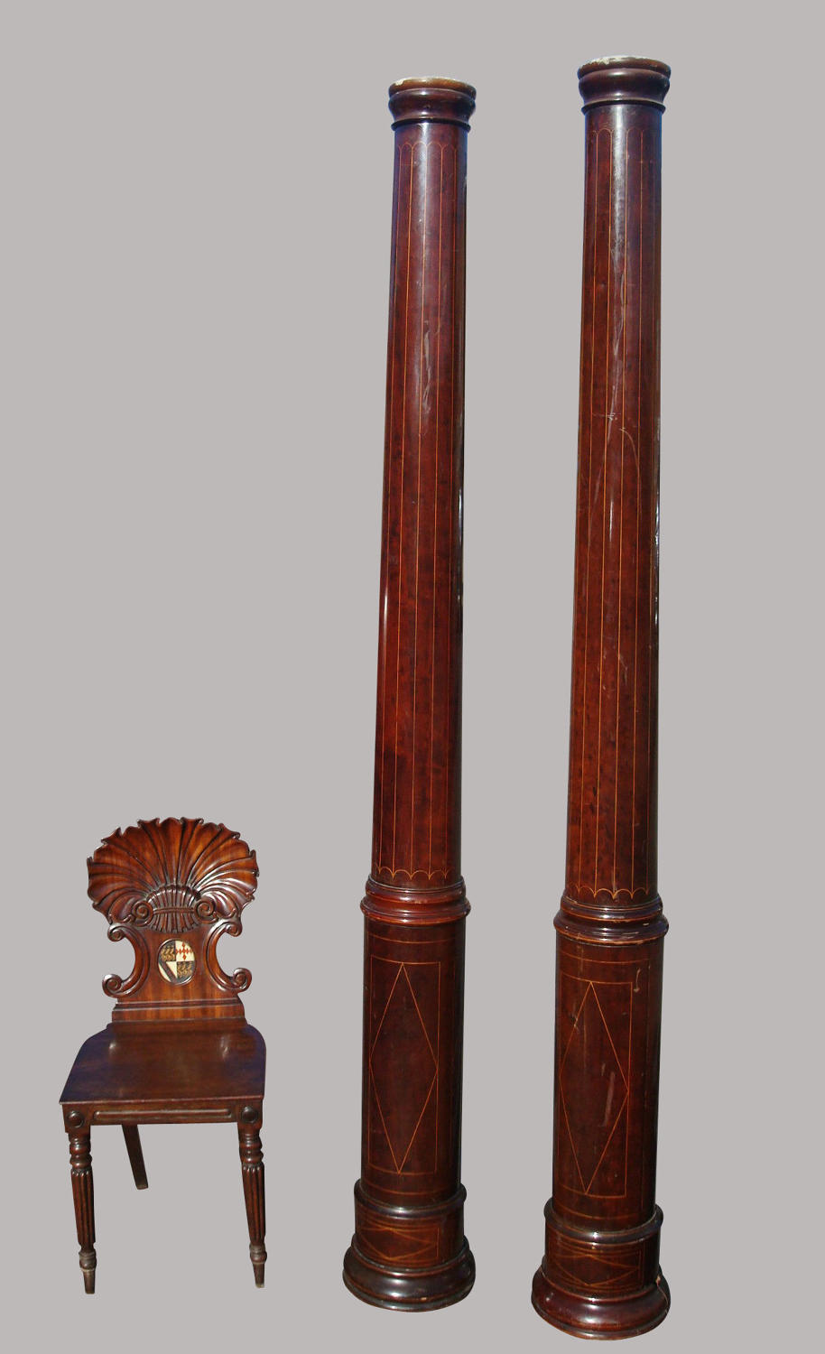19th century very tall pair of columns