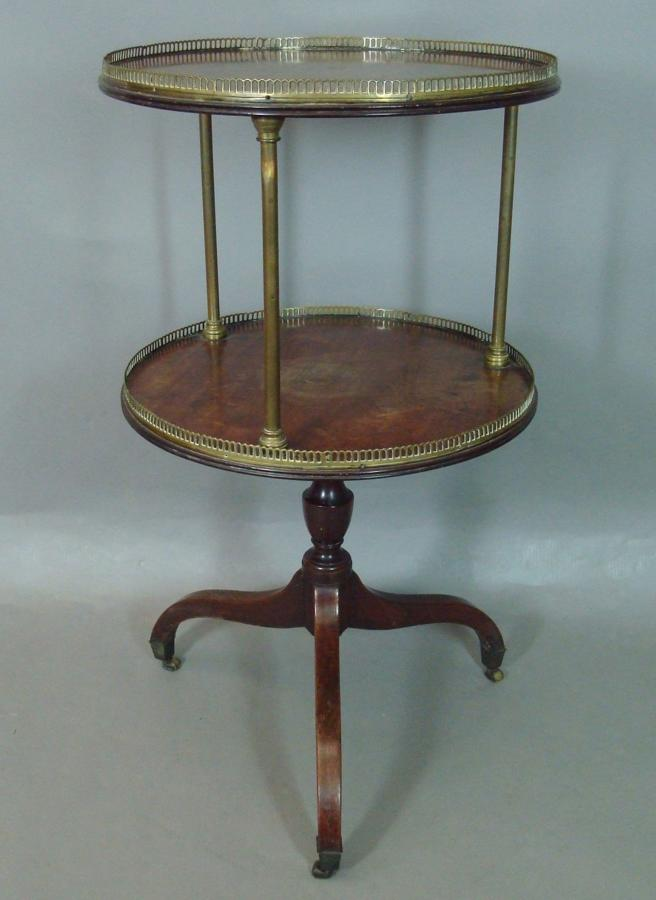 Regency mahogany two tier dumb waiter