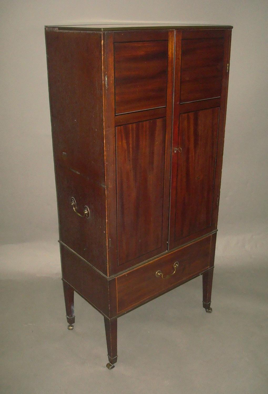George III mahogany small side cabinet