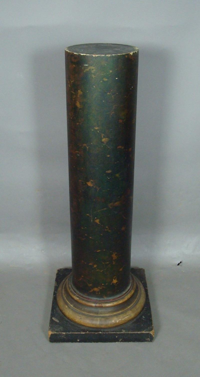 Regency faux marble, wood column
