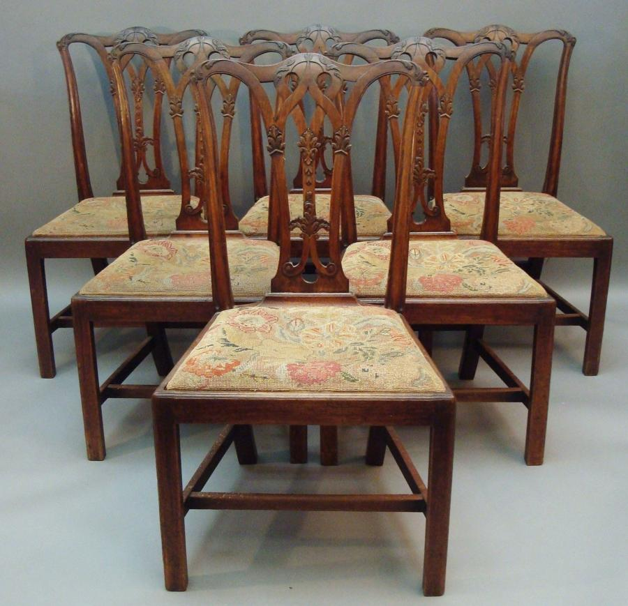 Georgian set of 6 dining chairs
