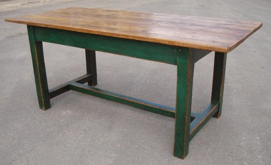 C19th pine farmhouse / kitchen table