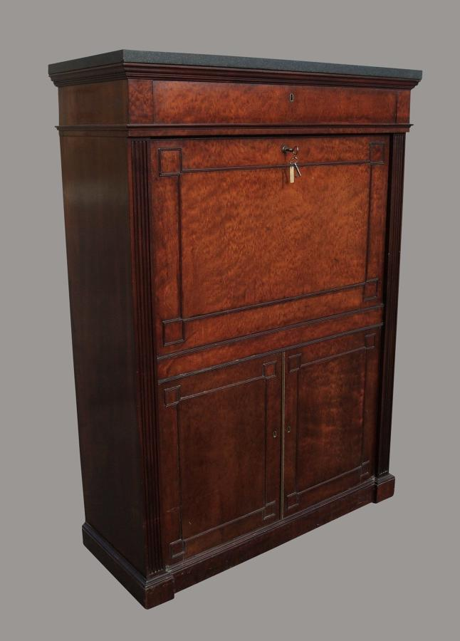 Regency mahogany Gillows secretaire abbatant