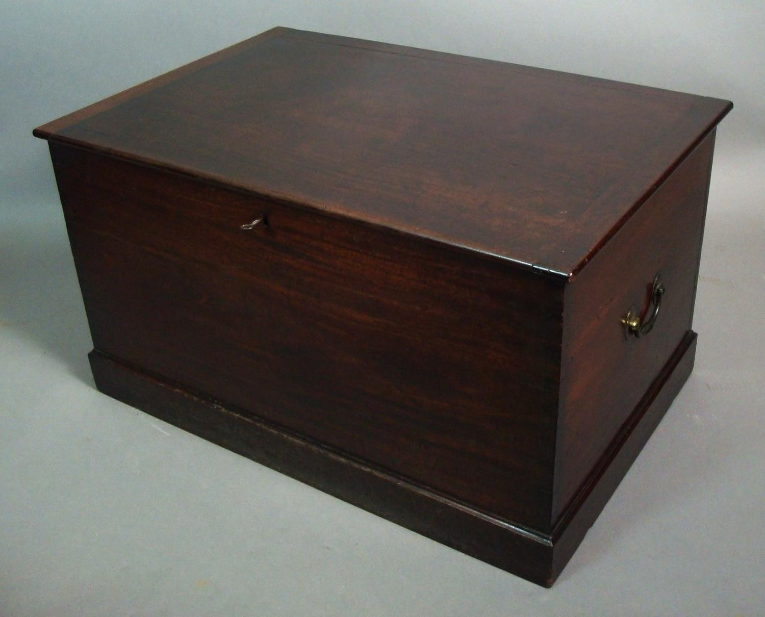 Georgian mahogany trunk