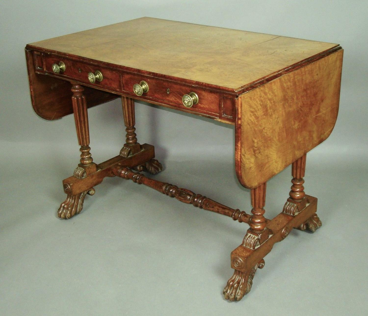 Regency oak and burr elm George Bullock sofa table
