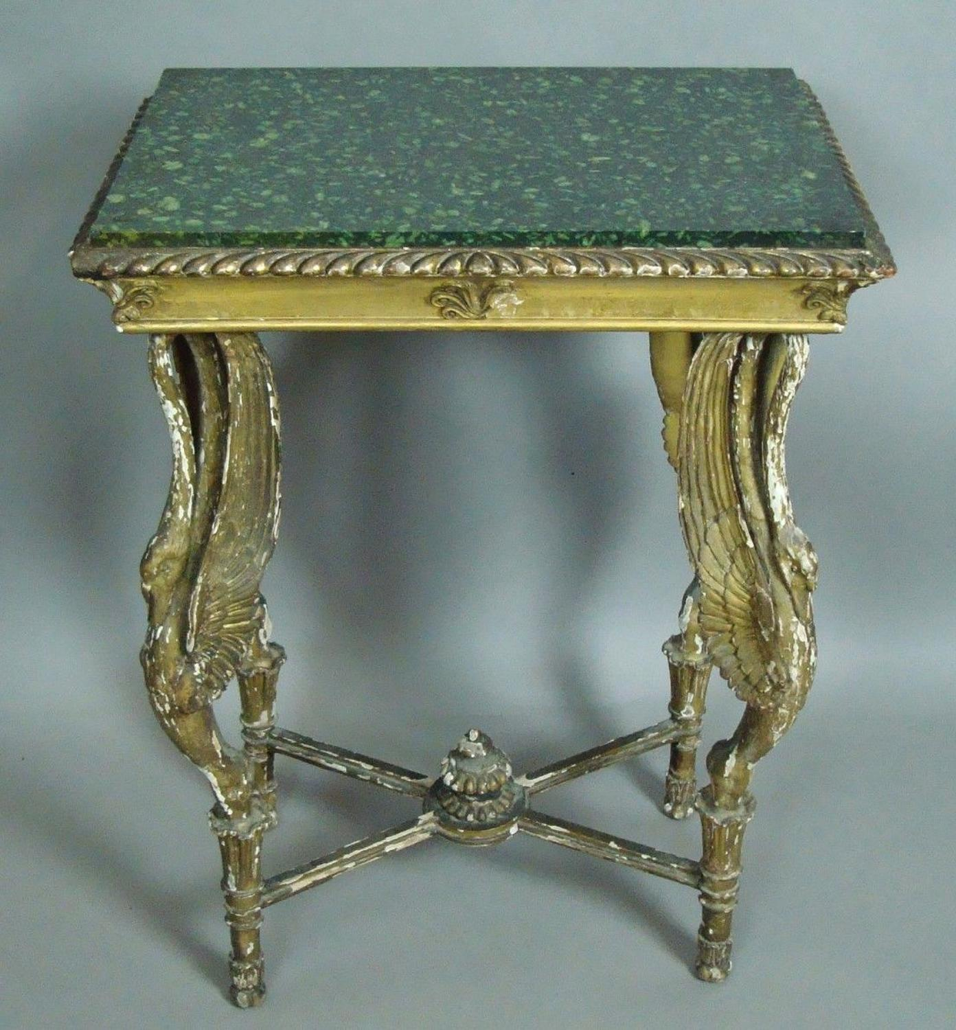 C19th good Russian giltwood table