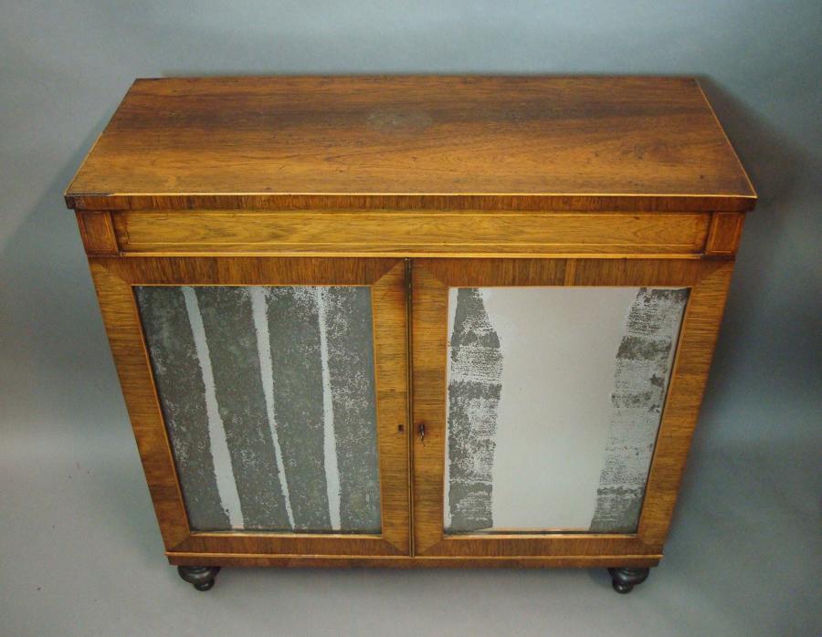 Regency rosewood 2 door small side cabinet