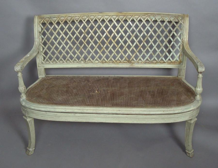 C19th continental painted settee