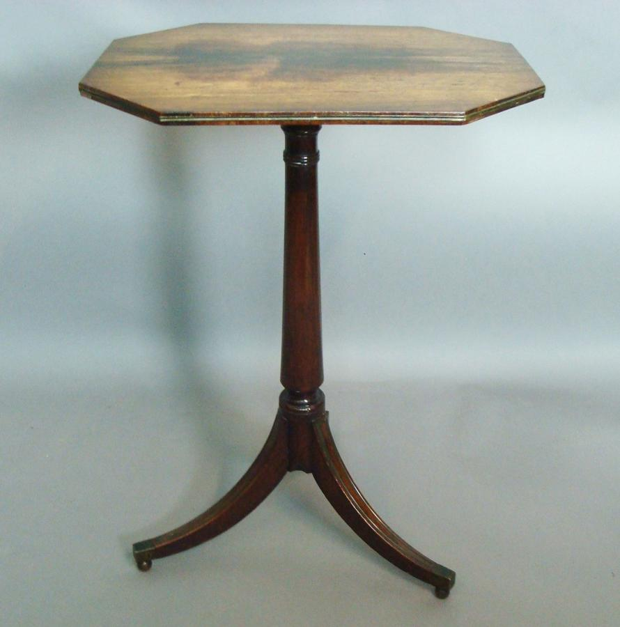 Regency rosewood tripod wine table