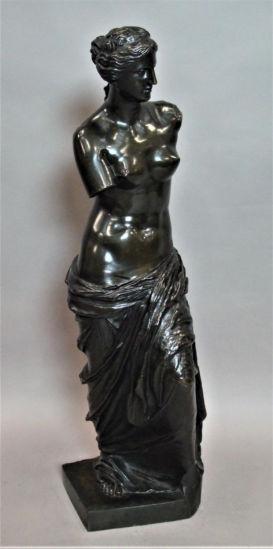 C19th large bronze Grand Tour sculpture of Venus De Milo