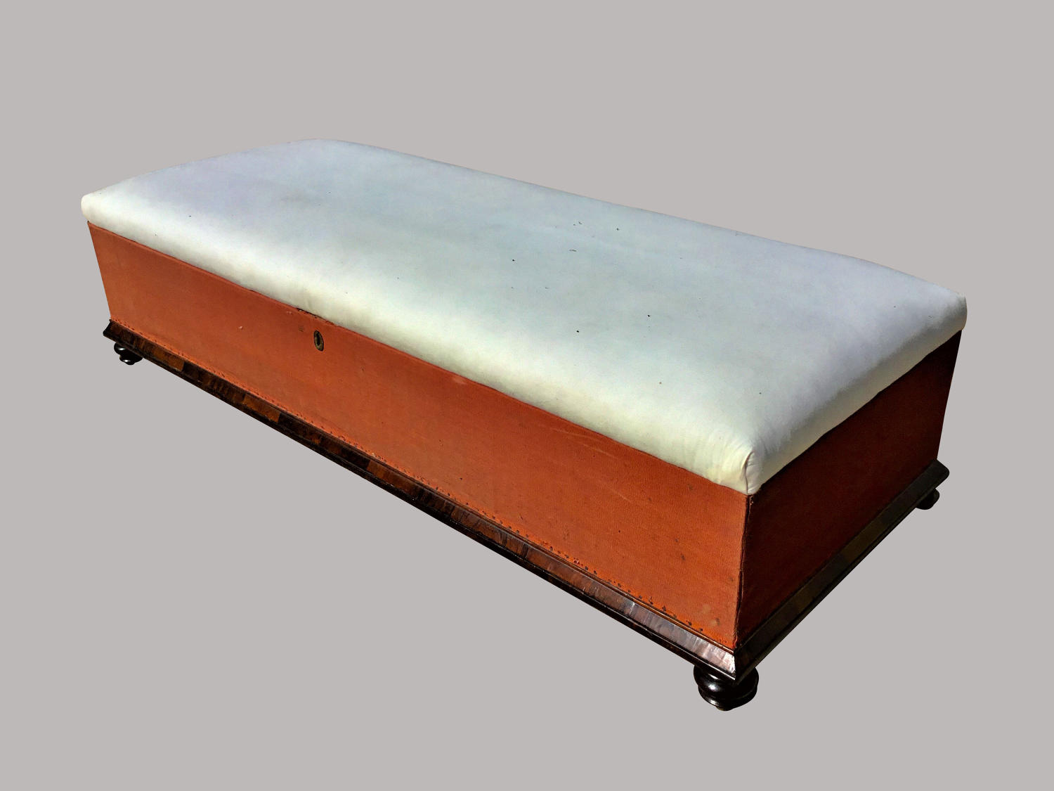 C19th large upholstered ottoman