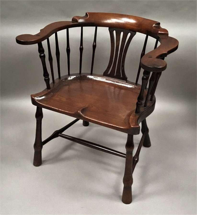 George II mahogany windsor type armchair