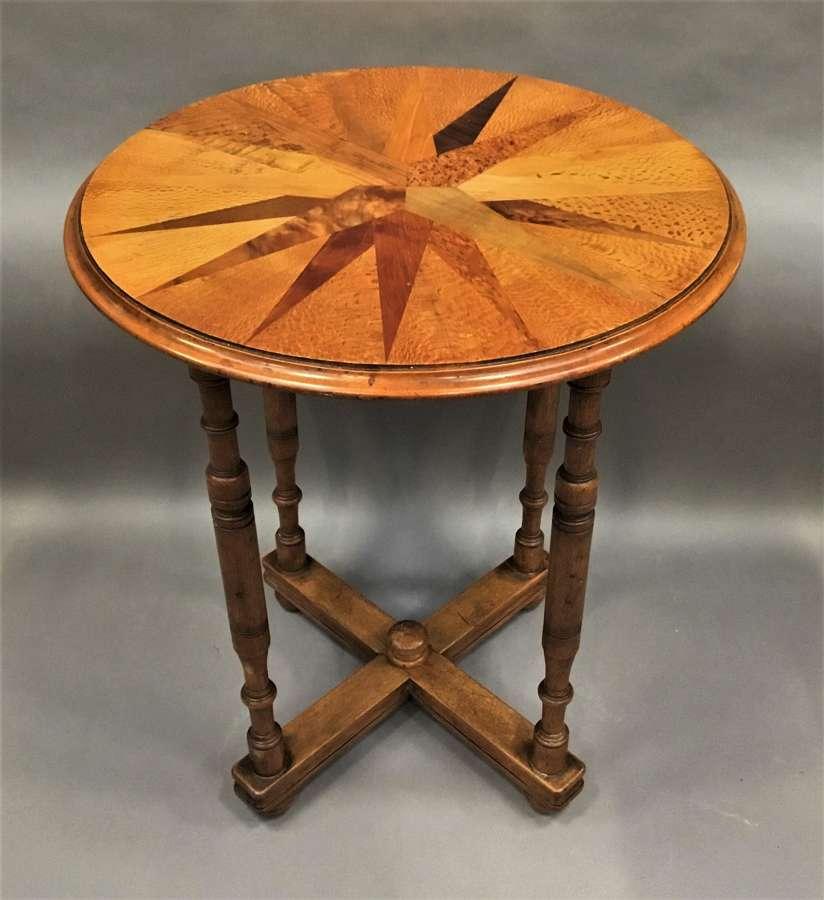 C19th New Zealand specimen wood table
