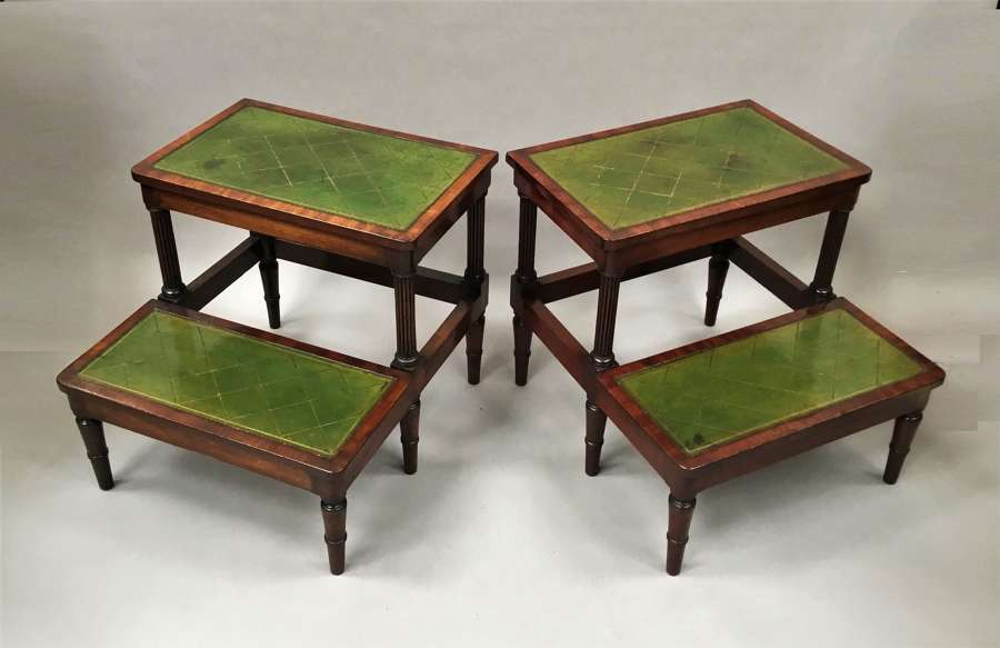 Regency pair of mahogany library steps