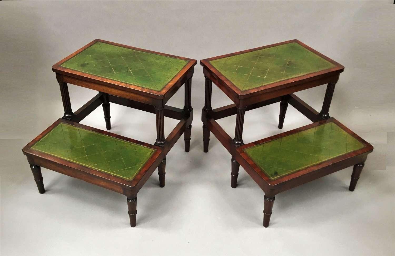 Regency pair of mahogany library steps