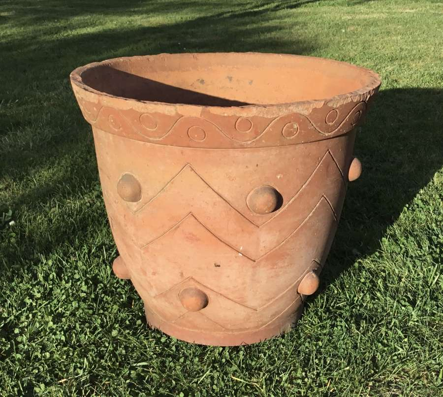 Early C20th Arts and Crafts terracotta pot / jardiniere