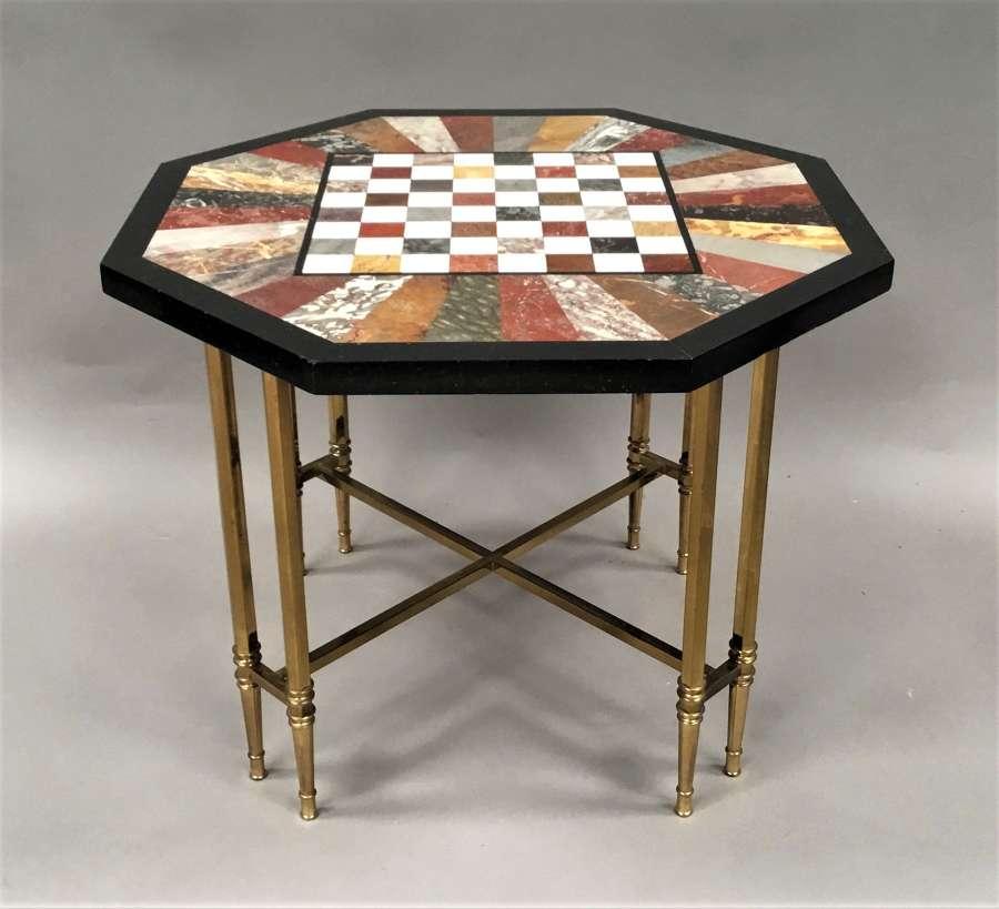 C19th Ashford specimen marble low table