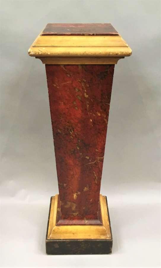 Regency simulated marble pedestal