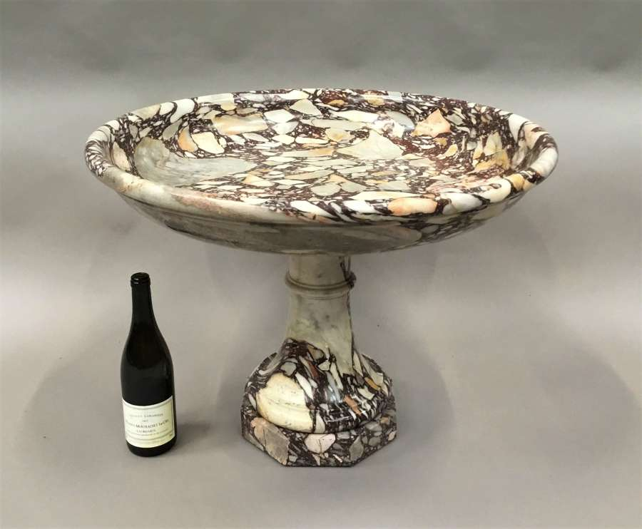 C19th neoclassical marble tazza / urn