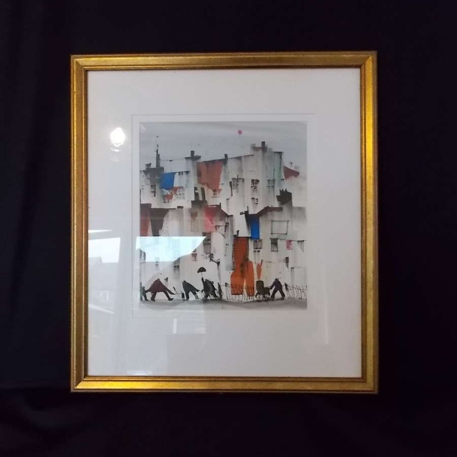Framed watercolour The one that got away by Sue Howells