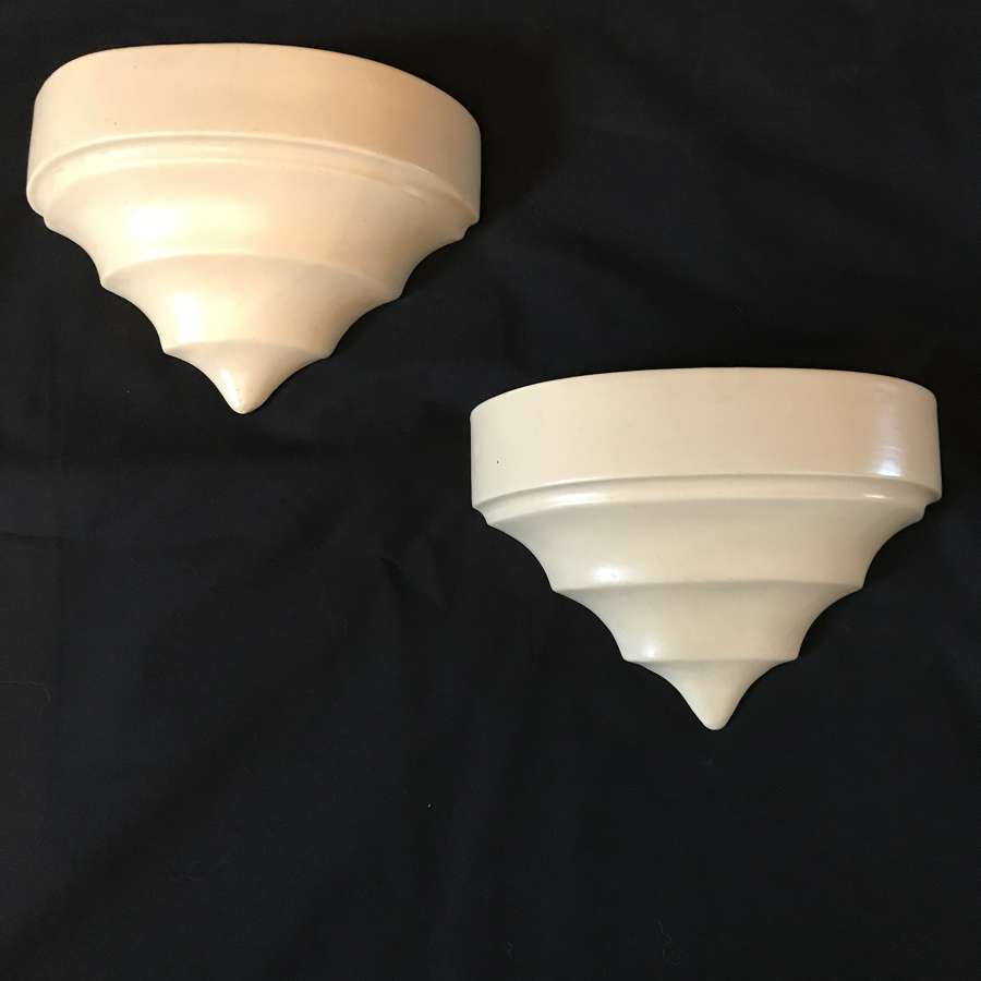Pair of Gray's pottery wall pockets from early to mid 20th century