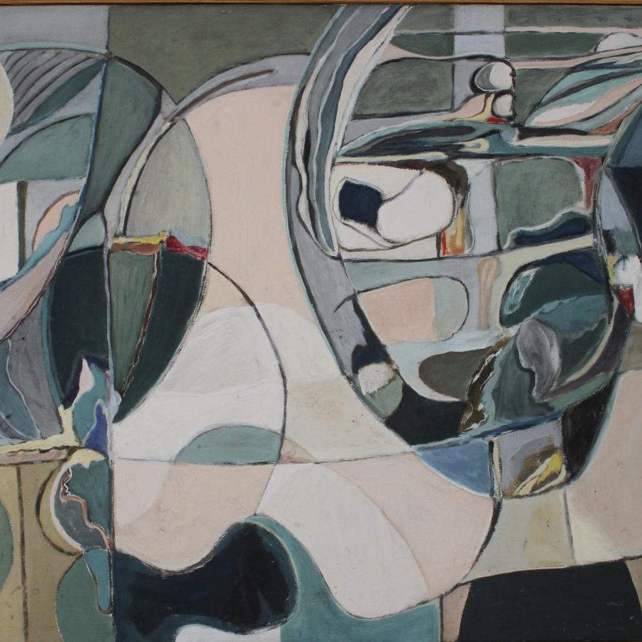 Bengt Nordqvist (1917-2012) Spokskeppet (Ghost Ship), Sweden 1970