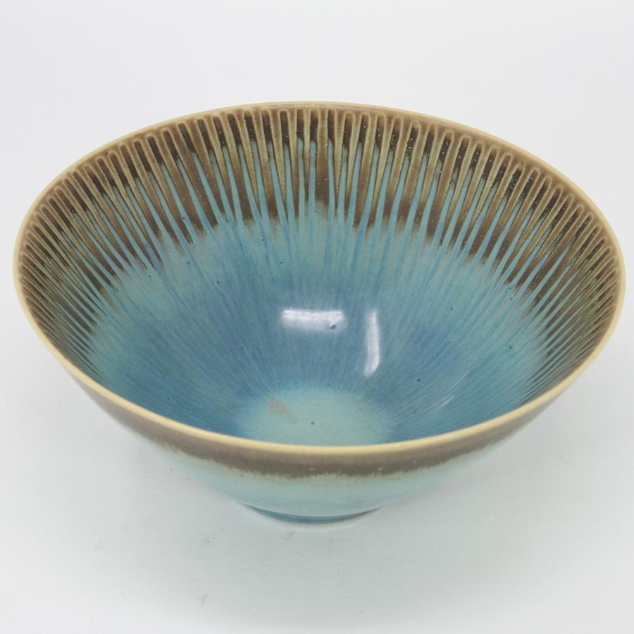Stig Lindberg unique stoneware bowl Gustavsberg Sweden c1960s