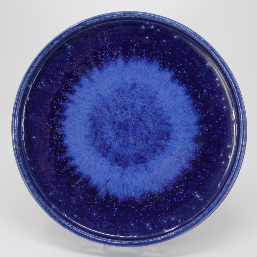 Per Linnemann-Schmitt Palshus blue dish Denmark 1960s