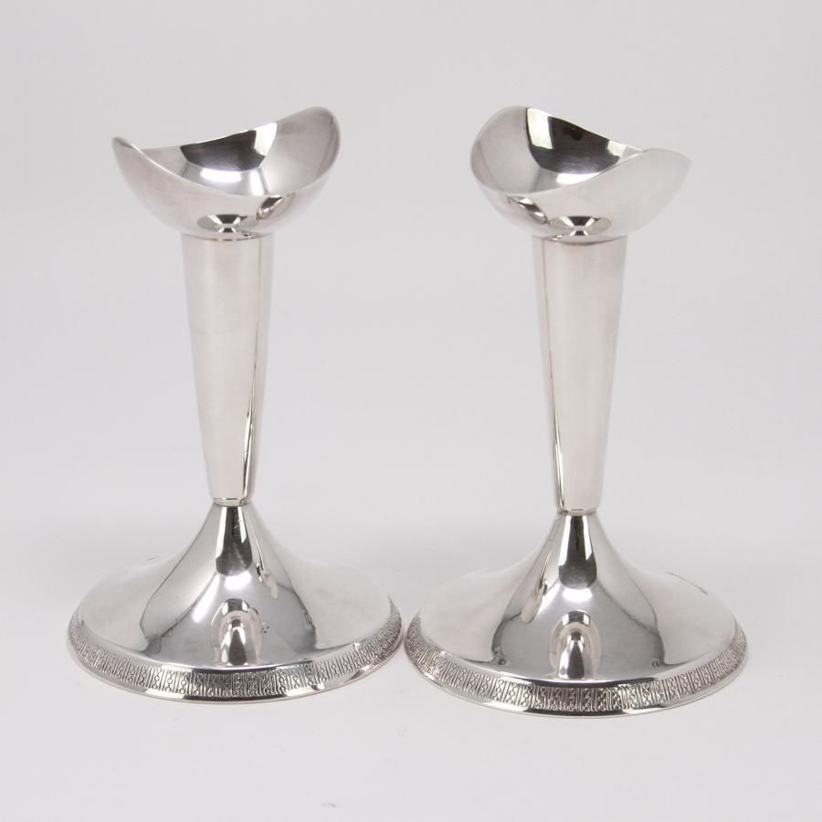 Pair Silver Candlesticks GAB Sweden 1963