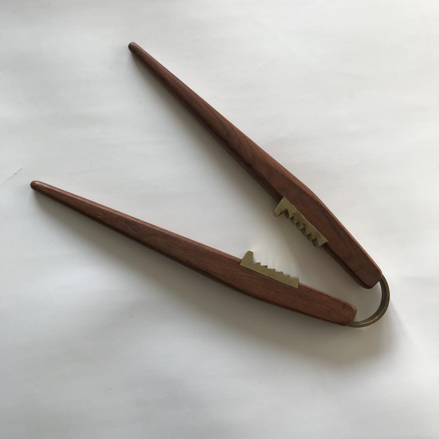 Poul Knudsen Danish design teak and brass nutcrackers 1960s