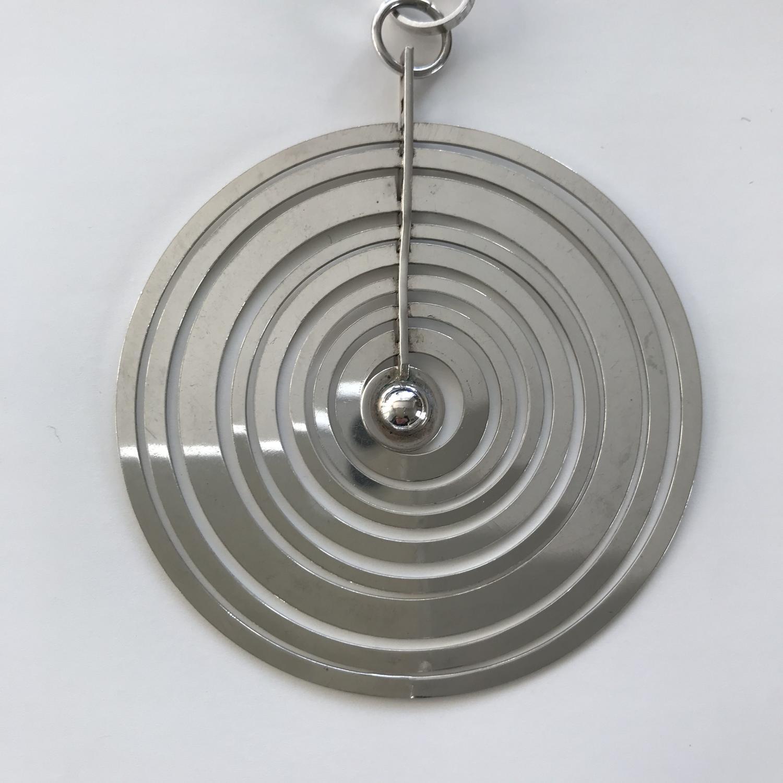 Tapio Wirkkala Silver moon pendant and chain Nestor Westerback Finland