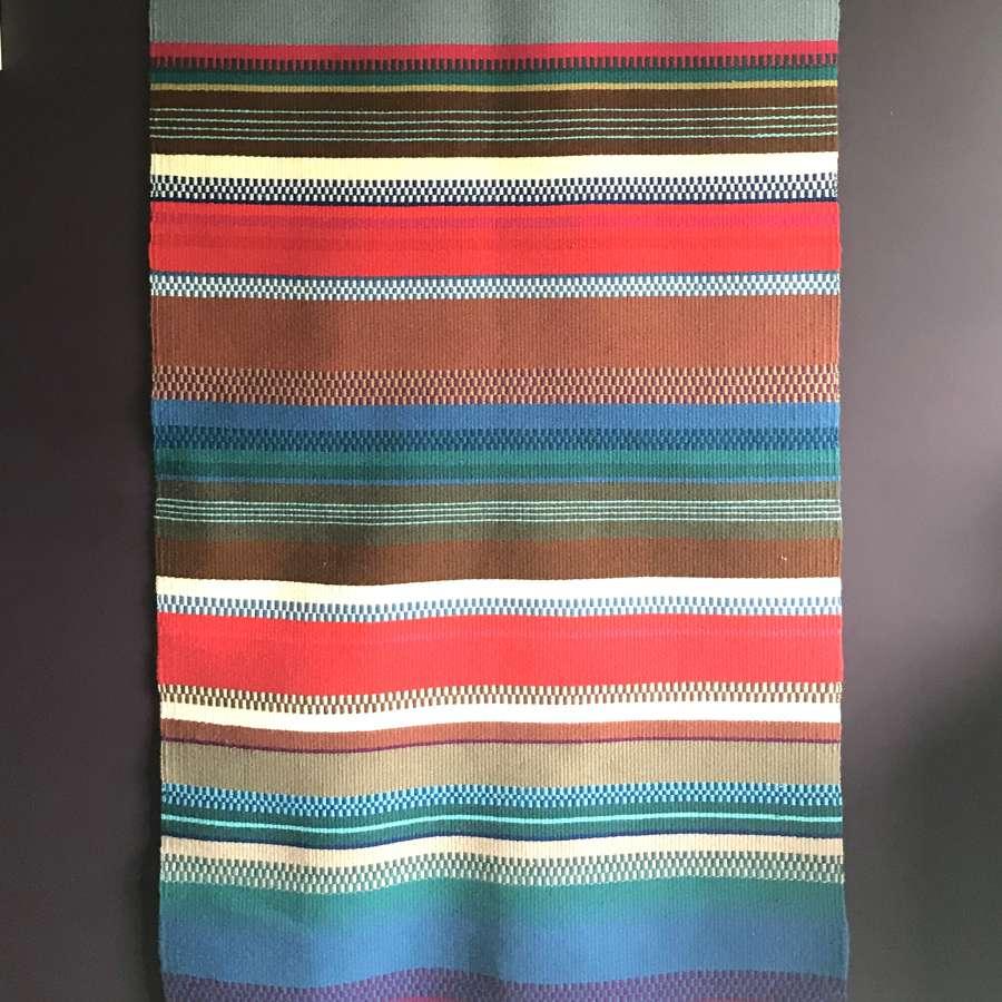 Swedish woven woollen wall hanging 1970s
