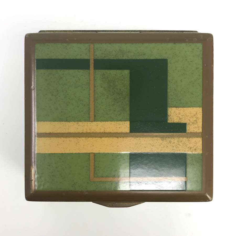 Marianne Brandt Metal and Wood box Ruppel Bauhaus Germany 1930